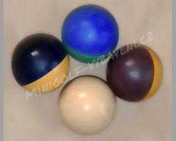Minigolfový míček gumový různé vlastnosti