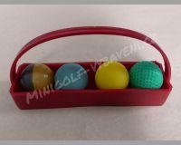 Sada košíček a 4 různé míče