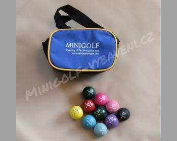 Startovní sada 10 různých minigolfových míčů Fun-Sports + taška